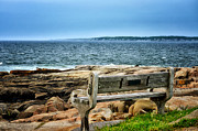 Seacoast Digital Art Prints - View of the Sea Print by Tricia Marchlik