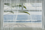 Curtains Originals - View of the Tropics by Diane Romanello
