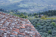 Chianti Hills Photo Framed Prints - View of the Val DOro From Rooftop Framed Print by Jeremy Woodhouse