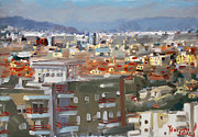 Albania Acrylic Prints - View of Tirana from Dajti Mountain Acrylic Print by Ylli Haruni