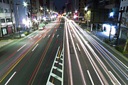 Life Speed Prints - View Of Traffic At Nihonbashi, Tokyo, Japan Print by Billy Jackson Photography