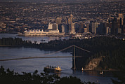 Burrard Inlet Metal Prints - View Of Vancouver, British Columbia Metal Print by Annie Griffiths