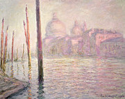 Calm Waters Posters - View of Venice Poster by Claude Monet