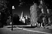 Old Krakow Framed Prints - View Of Wawel Cathedral And Towers Streetlight In Wawel Hill Castle Krakow  Framed Print by Joe Fox