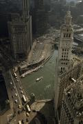 Guarantee Posters - View Of Wrigley Building, Michigan Poster by B. Anthony Stewart