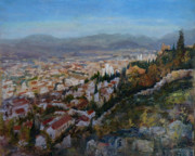 Granada Paintings - view over Granada by Andrew Taylor