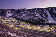 Night Views Posters - View Over I-70, Vail, Colorado Poster by Michael S. Lewis