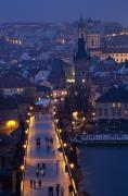 View Over The Charles Bridge Towards Print by Axiom Photographic