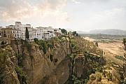 Ronda Prints - View over the Tajo gorge Ronda home of Bullfighting Print by Mal Bray