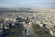 Aerial View Photos - View Over Trocadero From Eiffel Tower. Paris by Nico De Pasquale Photography