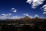 Small Towns Prints - View Overlooking Sedona, Arizona Print by Stacy Gold
