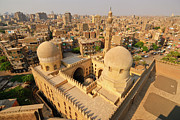 Africa-north Photos - View Overlooking The City Of Cairo From The Ibn Tulun Mosque, Cairo, Egypt, North Africa, Africa by Andrea Thompson Photography