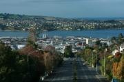 Terry Perham Photos - View Stuart St To Waverly Dunedin NZ by Terry Perham