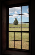 Manassas National Battlefield Park Photos - View through Window at The Stone House in Manassas by William Kuta