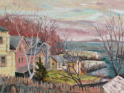 Massachusetts Paintings - View to Lanes Cove by Chris Coyne