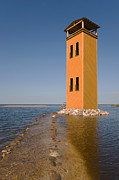 Watch Tower Prints - Viewing Tower In Rannu-joesuu By Lake Print by Jaak Nilson