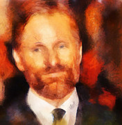 Actors Mixed Media Prints - Viggo 2 Print by Janice MacLellan