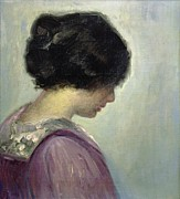 Heads Paintings - Viggo Johansen by Portrait of a Lady