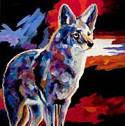 Coyote Art Paintings - Vigilant by Bob Coonts