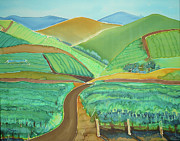 Roads Mixed Media - Vigor in the Vineyards by Jill Targer