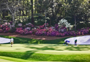 Tournament Photo Prints - Vijay at Amen Corner Print by David Bearden