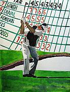 Pga Paintings - Vijay Singh at Augusta by Lesley Giles