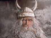 Comic Books Paintings - Viking God by James Guentner