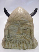 Primitive Sculptures - Viking by Terry Honstead