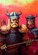 Vikings Painting Posters - Vikings Poster by Edzel marvez Rendal