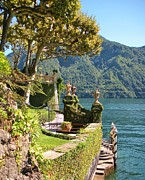 Lake Como Art - Villa Balbianello Marina by Marilyn Dunlap