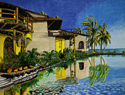 Hotel Drawings Prints - Villa Del Sol Print by Robert Thornton