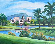 Villa Paintings - Villa in Phuket by Eric Hansen
