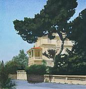 Villa Mixed Media - Villa in Saint Rafael by Constance Drescher
