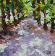 Tree Lined Paintings - Villa Strada by Don Reed