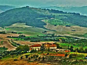 Vineyards Photo Originals - Villa Toscano by William Fields