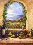 Wine Bottle Paintings - Villa View by Gail Salituri