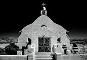 Christian Note Cards Framed Prints - Village Adobe Church I Framed Print by Steven Ainsworth