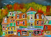 Depanneur Art - Village Autumn by Michael Litvack