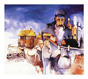 Fiddler Prints - Village Print by Bob Salo