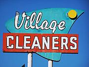 Roadside Art Framed Prints - Village Cleaners Framed Print by David Gianfredi