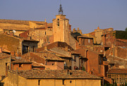 Architecture Framed Prints - Village de Roussillon. Luberon Framed Print by Bernard Jaubert