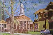 Hybrid Paintings - Village Hall- Montour Falls by Joseph Stevenson