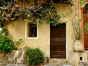 Window And Doors Framed Prints - Village House in Bormes Framed Print by Lainie Wrightson
