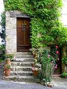 France Doors Prints - Village House in Fox-Amphoux Print by Lainie Wrightson