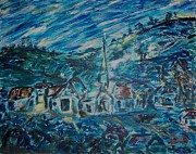 All - Village in Blue  by Mary Sedici