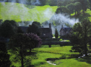Naturalistic Originals - Village in North Wales by Harry Robertson