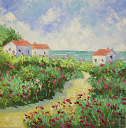 South Of France Prints - Village near Cannes South of France Print by Frederic Payet
