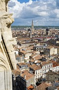 Residential Structure Prints - Village Of Bordeaux From The Peyberland Tower, Bordeaux, France Print by Alexis Grattier