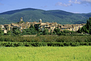 Mountainous Photos - Village of Lourmarin. Luberon. Vaucluse by Bernard Jaubert