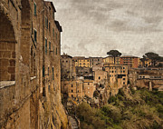 Italian Village Prints - Village of Pitigliano Print by Sharon Foster
